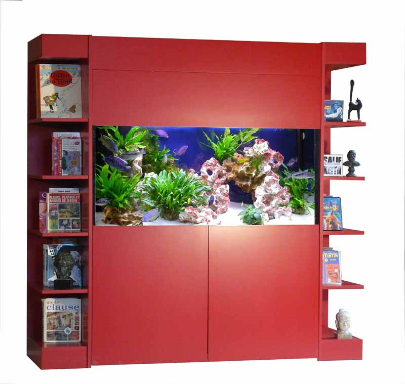 Meuble aquarium 80x40 for Meuble aquarium design