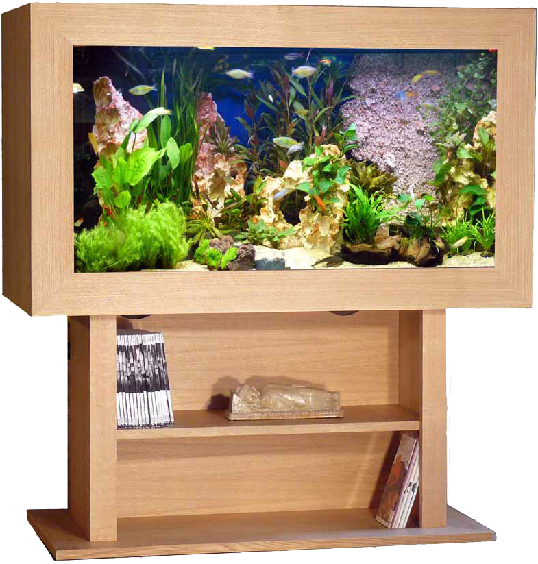 Fabriquer meuble aquarium 120l for Aquarium meuble tv