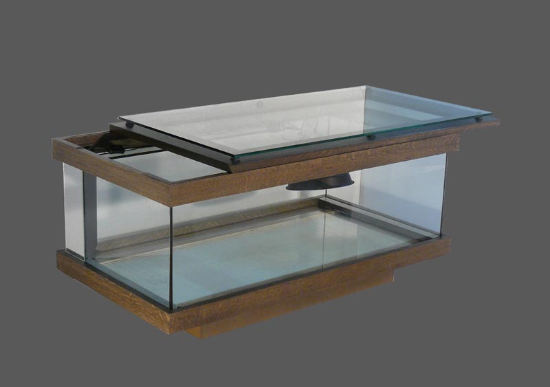 Tables terrariums cosy domus for Table salon aquarium