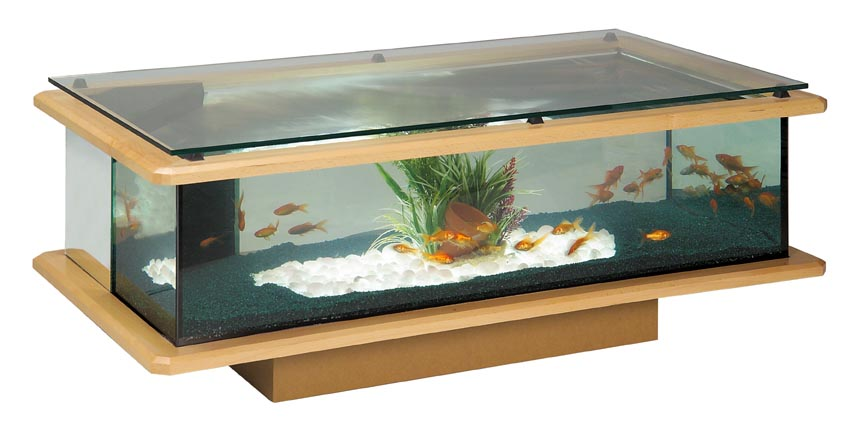 Table rabattable cuisine paris table de salon aquarium - Table basse aquarium design ...